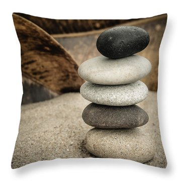 Zen Stones IIi Throw Pillow