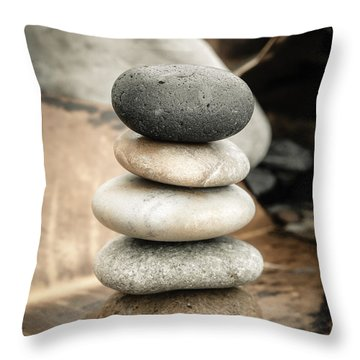 Zen Stones Iv Throw Pillow