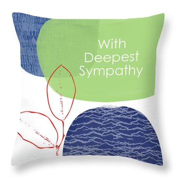 Zen Sympathy Card- Art By Linda Woods Throw Pillow