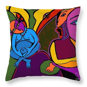 Zen Thoughts Throw Pillow by Hans Magden