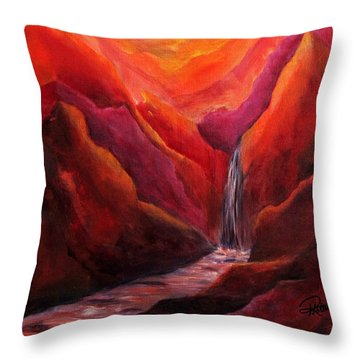 Zen  Where One Is At Peace Throw Pillow