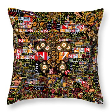 Zengine Throw Pillow