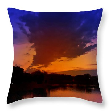 Zenith Throw Pillow by Kat Besthorn