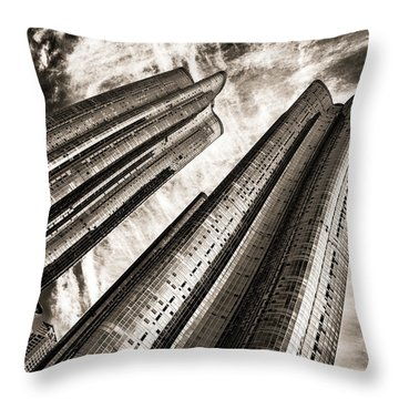 Zenith Towers Throw Pillow