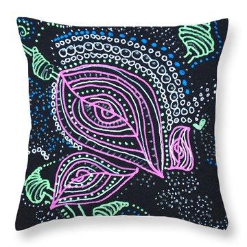 Zentangle Flower Throw Pillow