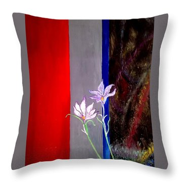 Zentastic Pair Throw Pillow by Rizwana Mundewadi