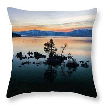 Zephyr Cove Tree Island By Brad Scott Throw Pillow