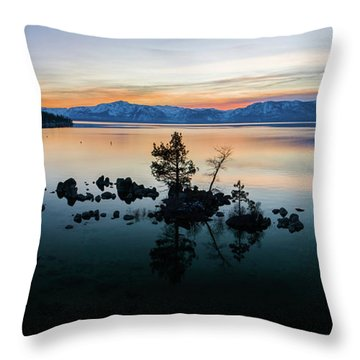 Zephyr Cove Tree Island By Brad Scott Throw Pillow