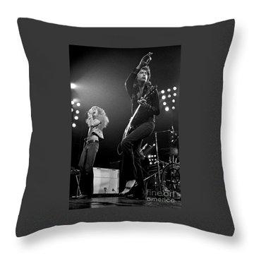 Zeppelin Rocks Throw Pillow