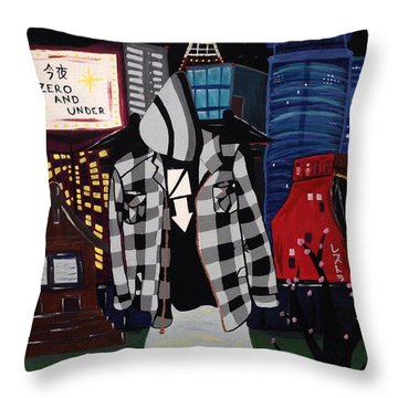 Zero And Under Goes To Tokyo Throw Pillow