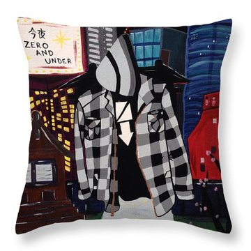 Zero And Under Goes To Tokyo Throw Pillow by Annie Walczyk