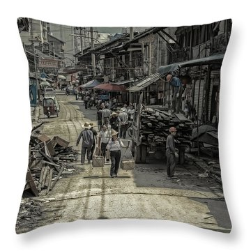 Zhangjiajie Ancient Town Throw Pillow by Wade Aiken