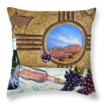 Zia Wine Throw Pillow
