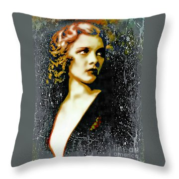 Ziegfeld Follies Girl - Drucilla Strain  Throw Pillow