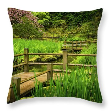 Zig Zag Bridge Throw Pillow