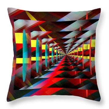 Zig Zag Throw Pillow by John Krakora