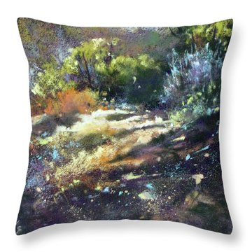 Zig Zag Path Throw Pillow by Rae Andrews