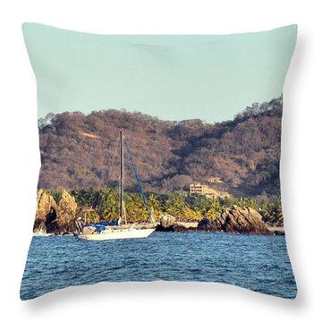 Zihuatanejo Bay Throw Pillow