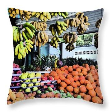 Zihuatanejo Market Throw Pillow
