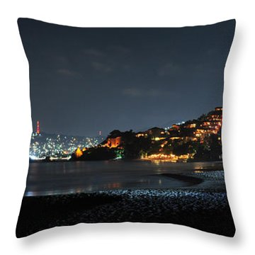 Throw Pillow featuring the photograph Zihuatanejo, Mexico by Jim Walls PhotoArtist