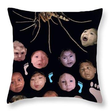Zika Babies Throw Pillow
