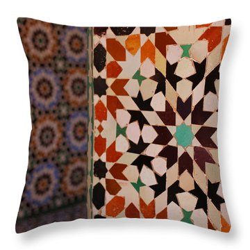 Throw Pillow featuring the photograph Zillij by Ramona Johnston