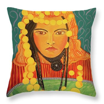 Throw Pillow featuring the painting Zina by John Keaton
