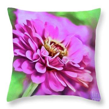Zinnia Art 2 Throw Pillow