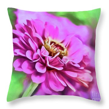 Zinnia Art 2 Throw Pillow