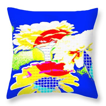 Zinnia Extreme   Throw Pillow