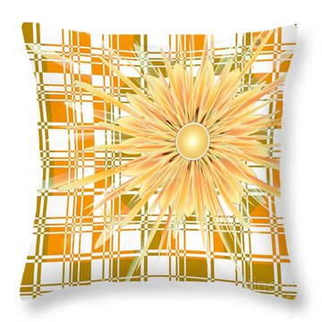 Zinnia Throw Pillow by Michelle H