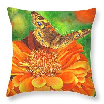 Zinnia Runway Throw Pillow
