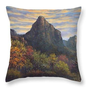 Zion Canyon Throw Pillow by Sean Conlon