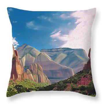 Zion Cliffs Throw Pillow