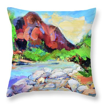 Zion Colors Throw Pillow