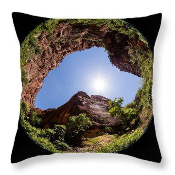 Zion Fisheye 1464 Throw Pillow