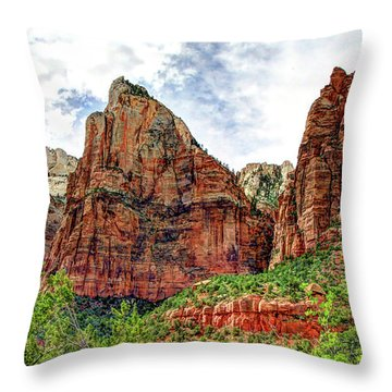 Zion N P # 41 - Court Of The Patriarchs Throw Pillow