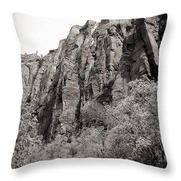 Zion National Park Sepia Tones  Throw Pillow