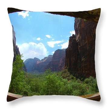 Zion National Park Utah Throw Pillow by Micah May
