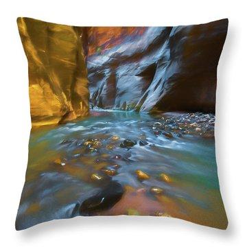 Zion Watercolor Throw Pillow