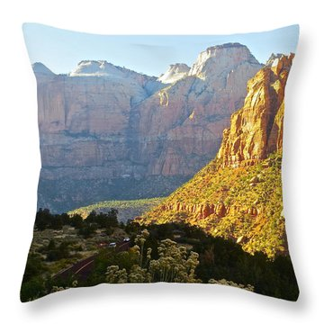 Zion's Gold Throw Pillow