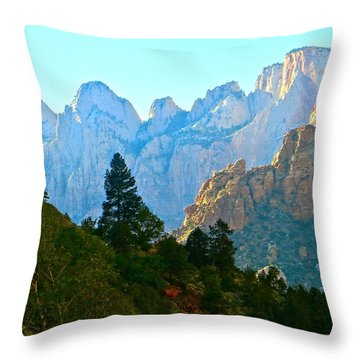 Zion's Hint Of Blue Throw Pillow