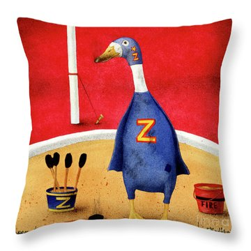 Zippo, The Fire-eater Throw Pillow