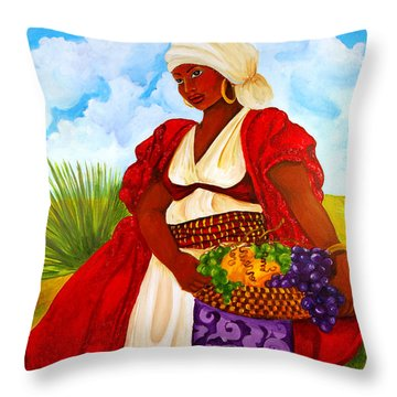 Throw Pillow featuring the painting Zipporah by Diane Britton Dunham