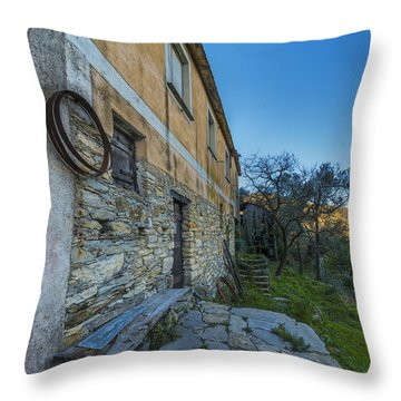 Throw Pillow featuring the photograph Zoagli Old Abandoned Country Home In Spring Time 1 by Enrico Pelos