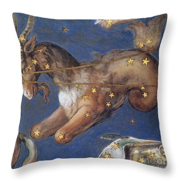 Zodiac: Capricornus, 1575 Throw Pillow by Granger