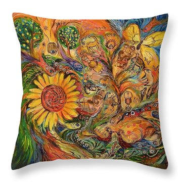 Zodiac Throw Pillow by Elena Kotliarker