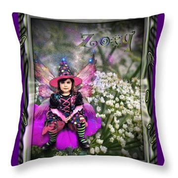 Zoey Throw Pillow by Susan Kinney