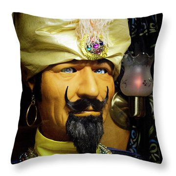 Throw Pillow featuring the photograph Zoltar by Chuck Staley