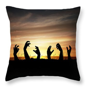 Zombie Apocalypse Throw Pillow